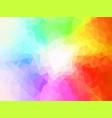 spectrum polygon background or frame vector image vector image