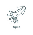 squidcalamary line icon linear concept vector image