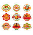 thanksgiving day label set autumn harvest vector image vector image