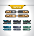 Toggle Buttons vector image vector image