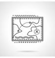 Tourist route flat line design icon vector image vector image