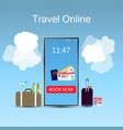 travel online design template e-ticket concept vector image