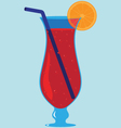 Tropical Cocktail Drink vector image