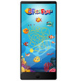 underwater fish game on tablet screen vector image vector image