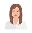 unhappy woman suffering from seborrheic dermatitis vector image vector image