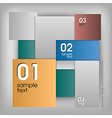 Various Squares vector image vector image