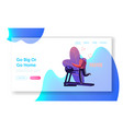 virtual sport training landing page template vector image vector image