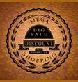 weekend sale emblem vector image vector image