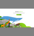 wild animal landing page template background vector image