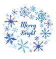 Winter Christmas Card - Snowflakes in Watercolor vector image vector image