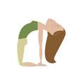 woman doing yoga cartoon vector image