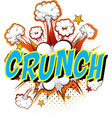 word crunch on comic cloud explosion background vector image vector image