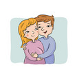 young couple waiting for newborn vector image