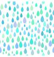 seamless rain pattern vector image