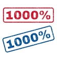 1000 Percent Rubber Stamps vector image vector image