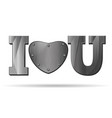 abbreviation - i love you vector image