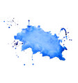 abstract blue watercolor splatter texture vector image vector image