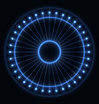 abstract blue wheel vector image vector image
