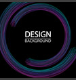 abstract geometric background with dynamic circles vector image vector image