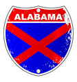 alabama interstate sign vector image vector image