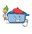 artist kitchen character cartoon style vector image