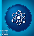 atom molecule symbol icon of physics or chemistry vector image vector image