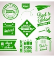 back to school icon set labels design vector image vector image