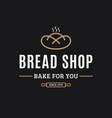 bakery logo logo bread on black background vector image vector image