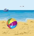 ball on the beach vector image