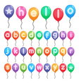 balloon alphabet letters vector image vector image