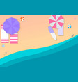 beach and sand vector image vector image