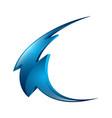 blue 3d thunder logo lighting bolt logo electric vector image
