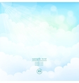 blurred background sky with clouds vector image vector image