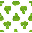 broccoli seamless doodle pattern vector image
