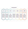 business infographics timeline with 7 steps vector image vector image