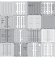 Cargo containers grey pattern vector image vector image