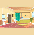 cartoon bathroom interior background vector image vector image