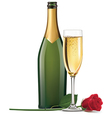 Champagne and rose vector image