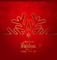 christmas background with snowflake design vector image vector image