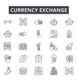 currency exchange line icons signs set vector image vector image