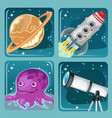 cute poster on the theme of space exploration vector image