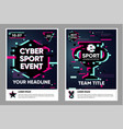cyber sport poster electronic games backgrounds vector image vector image