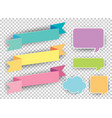 different designs of labels in many colors vector image vector image