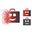 dissipated dot halftone smile case icon vector image vector image