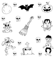 Doodle of scary halloween zombie vector image vector image