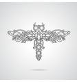 Dragonfly ornament vector image