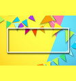 festive background with rectangular frame and vector image vector image
