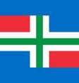 flag of groningen netherlands vector image vector image