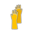 flat icon of rubber glove vector image vector image