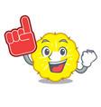 foam finger pineapple slice isolated on mascot vector image
